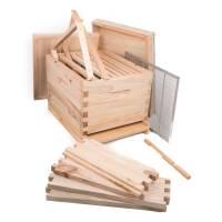 Jungimker Starterpaket - mit Holzbeute inkl. Kunstschwarm Dadant US Carnica